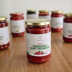Pomodoro e olive taggiasche